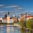 Prague architecture near the Vltava river — Stock Photo