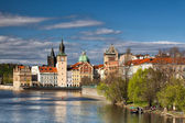 Prague architecture near the Vltava river — Foto Stock