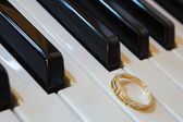On the piano — Stock Photo