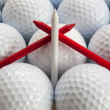 Royalty-Free Stock Photo: Golf balls and tees