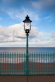 The street lamp on the Scarborough promenade — Stock Photo