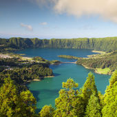 Famous caldera on Azores — Stock Photo