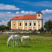 Pilgrimage place on the hill in Chotec — Stock Photo