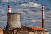 Old thermal power plant — Stock Photo