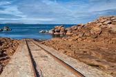 On the impressive coast in Brittany — Stock Photo