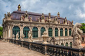 The famous palace in Zwinger in Dresden — Stock Photo