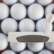 Golf putter and balls — Stock Photo #29653525