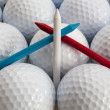 Golf balls and tees — Stock Photo #29754157