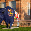 SALT LAKE CITY - JULY 2013 - Painted statue of Buffalo in front — Stock Photo