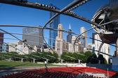 CHICAGO - JULY 12: Jay Pritzker Pavilion in Millennium Park on J — Stock Photo