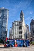 CHICAGO - JULY 13: Wrigley building in Chicago on July 13, 2013. — Stock Photo
