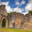 The detail of ruins abbey in Glastonbury — Stock Photo