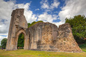 The detail of ruins abbey in Glastonbury — Stockfoto
