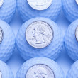 Golf and money — Stock Photo