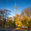 Famous Lookout tower on Petrin Hill in Prague — Stock Photo #33923697