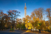 Famous Lookout tower on Petrin Hill in Prague — Stock Photo