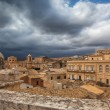 Above the rooftops in Noto — Stock Photo