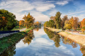 Canal for river steamers in Troja — Stock Photo