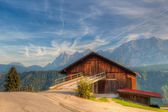 Old woodshed in Austria — Stock Photo