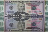 U.S. dollars on the mirror — Stock Photo