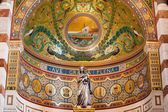 Incrível teto da Catedral de notre dame em Marselha, França — Fotografia Stock