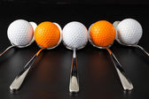 Spoons and golf balls — Foto Stock
