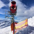 Red Snow-Machine in Austria Alps — Stock Photo