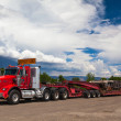 Stock Photo: UTAH - JULY 18: The typical american red Kenwood truck on a pa