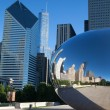 CHICAGO - JULY 12: Cloud Gate sculpture in Millenium park on Jul — Stock Photo #40628855