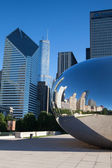 CHICAGO - JULY 12: Cloud Gate sculpture in Millenium park on Jul — Stock Photo