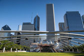 CHICAGO - JULY 12: Jay Pritzker Pavilion in Millennium Park on J — Stock Photo