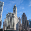 Stock Photo: CHICAGO - JULY 13: Wrigley building in Chicago on July 13, 2013.