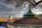 View from Prague castle on autumn Prague — Stock Photo