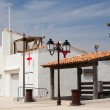 Stock Photo: Small infirmary building on beach,