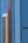 The detail of a modern high skyscrapers in Los Angeles — Stock Photo