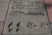 John Travolta's autograph — Stock Photo