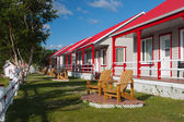 LE MOTEL BO BLEUVE-SAINT SIMEON — Stock Photo