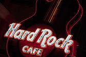Guitar at entrance.Hard Rock Cafe — Stock Photo