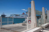 Cruise ship in the port of Malaga,Spain — Stock Photo