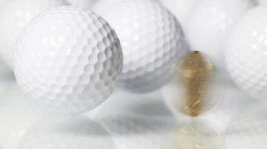 Golf und Geld — Stockvideo