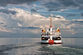 Ferry on St.Lawrence river — Stock Photo