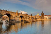 View from Kampa on the famous Charles Bridge — Stock Photo