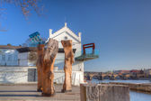 Museum Kampa on the Vltava river banks. — Stock Photo