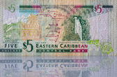 Money from Eastern Caribbean — Stock Photo