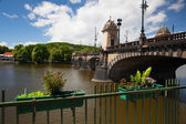The famous Bridge of Legions in Prague — Stock Photo