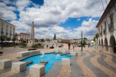 Renovated historic square in Tavira — Stock Photo