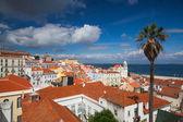 Famous Portas do Sol Belvedere in Lisbon — Stock Photo