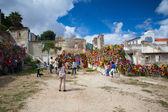 Show in ruins Palacio Belmonte in Lisbon — Stock Photo