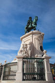Bronze statue of King Jose I from 1775 on the Commerce Square, L — Stock Photo