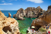 Famous cliffs of Ponta de Piedade — Stock Photo
